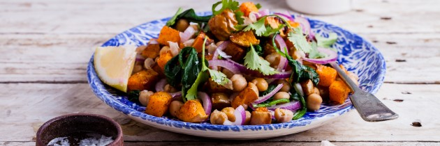 Cinnamon Butternut Squash with Chickpeas