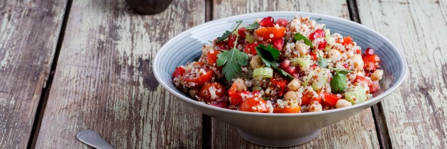 Spring Quinoa and Pomegranate Salad