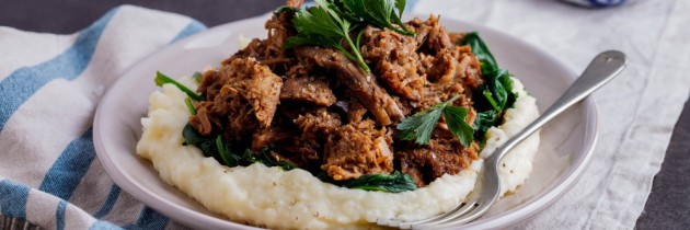 Pulled Pork with Cauliflower Mash