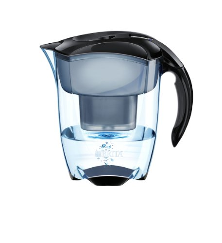 brita elemaris meter xl water filter jug 3 5 l black. Black Bedroom Furniture Sets. Home Design Ideas