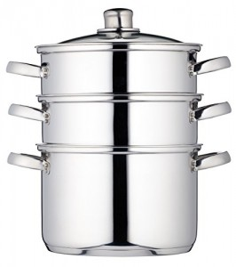 Kitchen-Craft-22-cm-Clearview-Stainless-Steel-3-Tier-Steamer-0