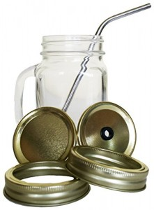 Ready-to-Go-DELUXE-KILNER-STYLE-LIDS-ALABAMA-or-Clear-Glaass-Eco-Mason-Jars-Mugs-with-Handle-Drinking-Stainless-Steel-Straws-Smoothies-Green-Juicing-Juices-0