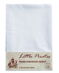 2-x-Baby-PramCrib-Moses-Basket-White-Flat-Sheet-100-Luxury-Brushed-Cotton-0