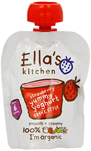 ellas kitchen organic greek yoghurt and strawberry 90g - Ellas Kitchen